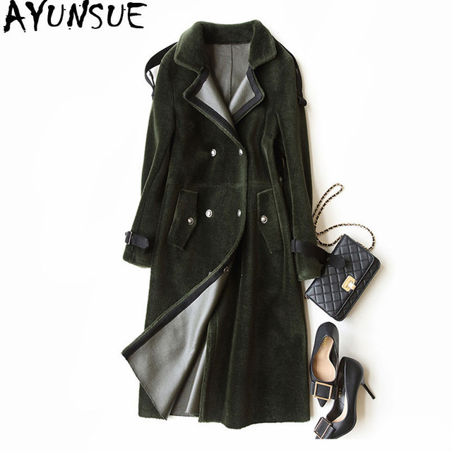 AYUNSUE High Quality Winter Jacket Women Faux Fur Wool Coat Female ...