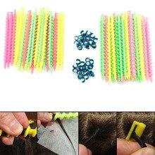Пластиковая Парикмахерская спиральная завивка волос Плойка для завивки салонный инструмент прочный 26 шт