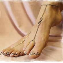 1 PC Antique Bronze Infinity Symbol Summer Style Chain Ankle Bracelet Anklet CA016