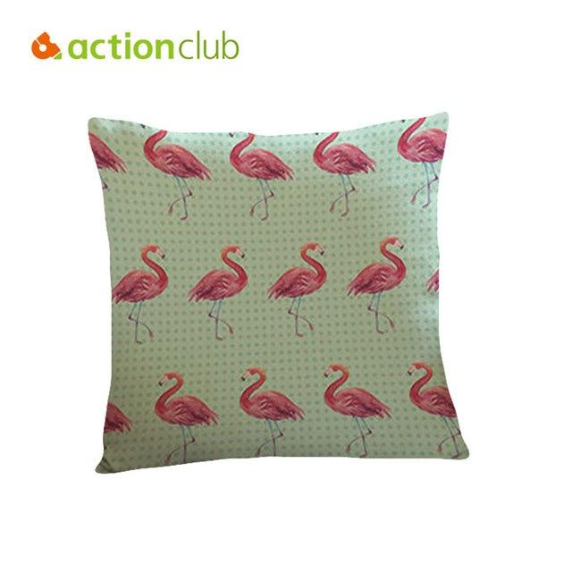 Actionclub Neue Flamingo Kissen Tier Kissen Cojines Polyester Leinen