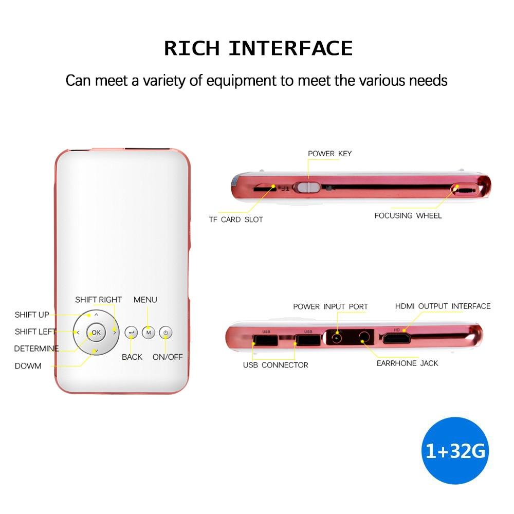 Semua orang Dapat Proyektor Pocket Mini Celular Smartphone Projektor - Audio dan video rumah - Foto 2