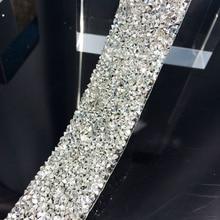 Freies shippment klar mit silber kristall strass hochzeit banding, 3 cm breite, phantasie braut dressbelt trim, hochzeit kuchen banding