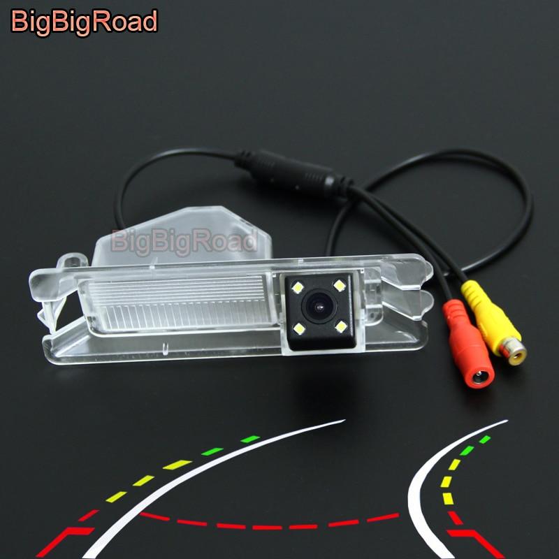 BigBigRoad Car Intelligent Dynamic Tracks Rear View Camera For Nissan March 2011 2012 2013 2014 2015