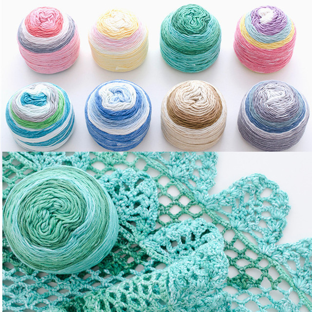 6c25dc513f8f 165 Meters Segment dyed Mercerized cotton woolen yarn knitting wool ...