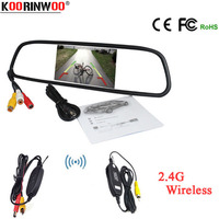 Koorinwoo Parking Wireless module For Car Rear View Camera with Auto 4.3 Inch 800*480 TFT LCD Car Mirror Monitor Vehicle Assist