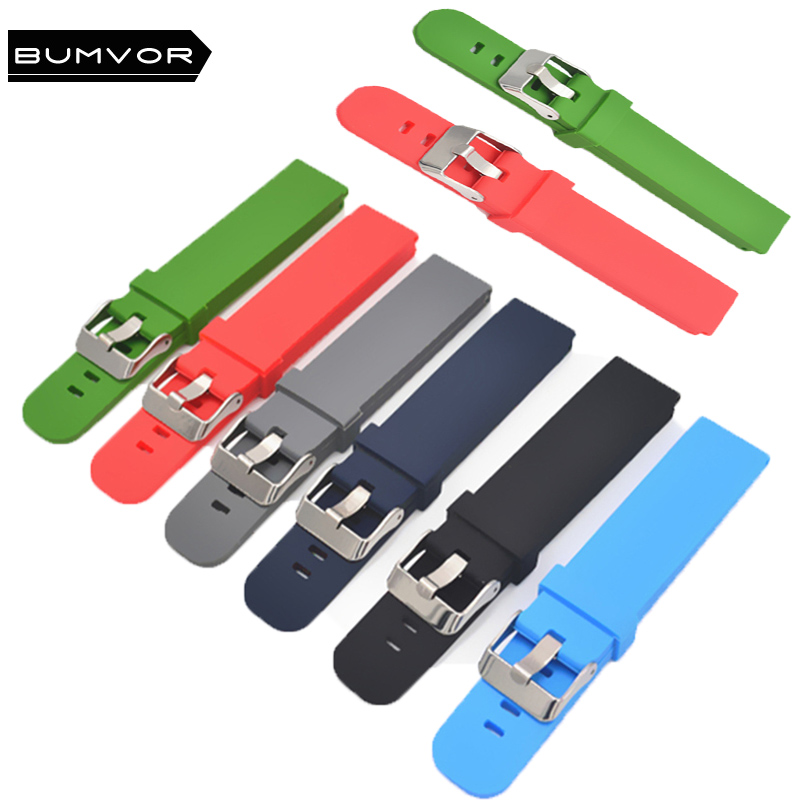 Watch Strap Sports Durable Silicone 18 Mm 20 Mm 22 Mm Strap For Samsung 360 Huawei Smart Watch Men's Strap