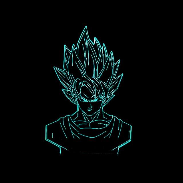 New Dragon Ball Son Goku Superhero 3D Lâmpada Led RGB Noite Lâmpadas Lâmpadas de luz Presentes de Aniversário Dos Desenhos Animados Action Figure Criança Crianças Brinquedos
