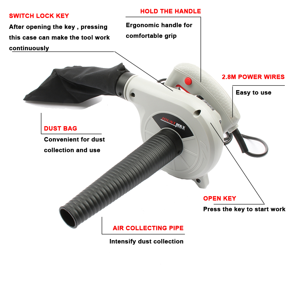 Image 3 - 600W /1000W 220V 240v High Efficiency Electric Air Blower Vacuum Cleaner Blowing Dust collecting Computer dust collector cleaner-in Blowers from Tools on