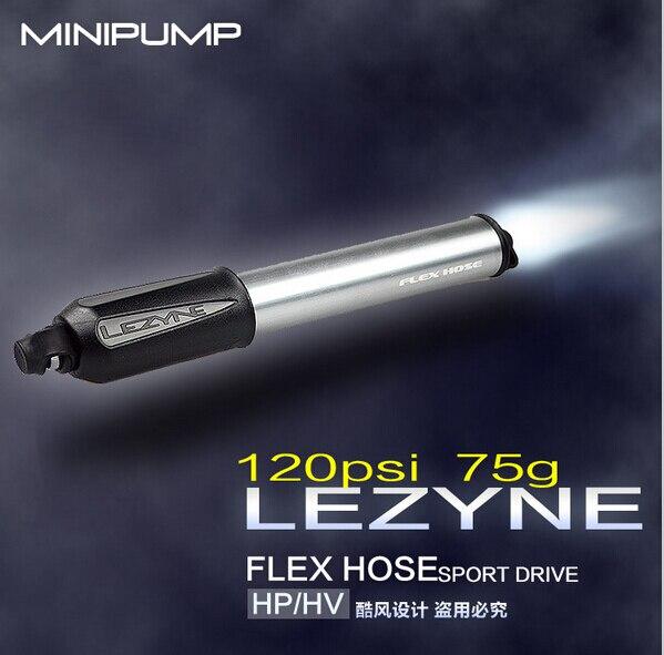 Siêu nhẹ Bơm Xe Đạp LEZYNE Mini Di động bơm xe đạp xe đạp bơm áp lực cao 120psi FV & AV