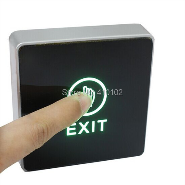 Infrared Contactless Bule Backlight Touch Exit Button \ Door Release Switch for Access Control infrared door exit button touch release push switch contactless bule backlight for access control systemc electronic door lock