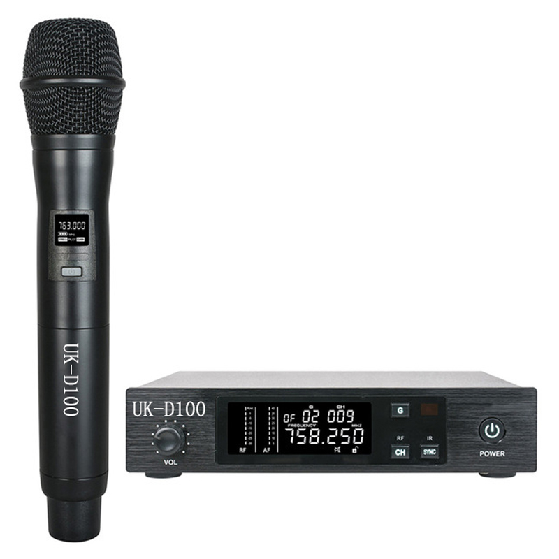 Cost-effective UHF Handheld Wireless Microphone System Vocal Mic IR Sync function for Singing Live Show 100 Channels Selectable top quality professional true diversity single handheld wireless mic microfone uhf wireless microphone system perfect for stage