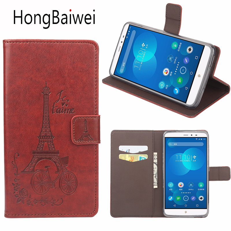 Κάλυμμα για PPTV King 7 Case Flip Eiffel Tower Pattern Luxury Leather Magnetic Wallet Phone Bag Case for PPTV King 7S PP6000 V1 M1