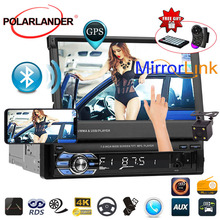 7 Head Unit 1 DIN Bluetooth Autoradio Car Radio USB/AUX/SD Stereo Aux In Mirror Link Mp4 Mp5 Player radio cassette player