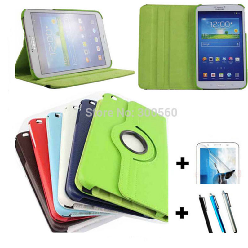 360 Degree Rotating Litchi Pattern Leather Case For Samsung GALAXY Tab 3 8 0 T311 T310