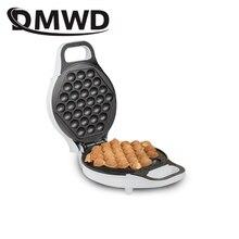 DMWD MINI แบบพกพาฮ่องกงไข่ไฟฟ้า bubble waffle Maker QQ ไข่ Aberdeen ไข่เจียวเครื่อง eggettes พัฟเค้ก EU US plug