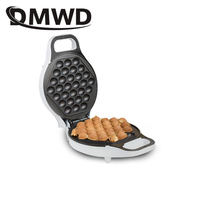 DMWD MINI portable Hong Kong electric eggs bubble waffle Maker QQ egg Aberdeen omelet machine eggettes puff cake pan EU US plug