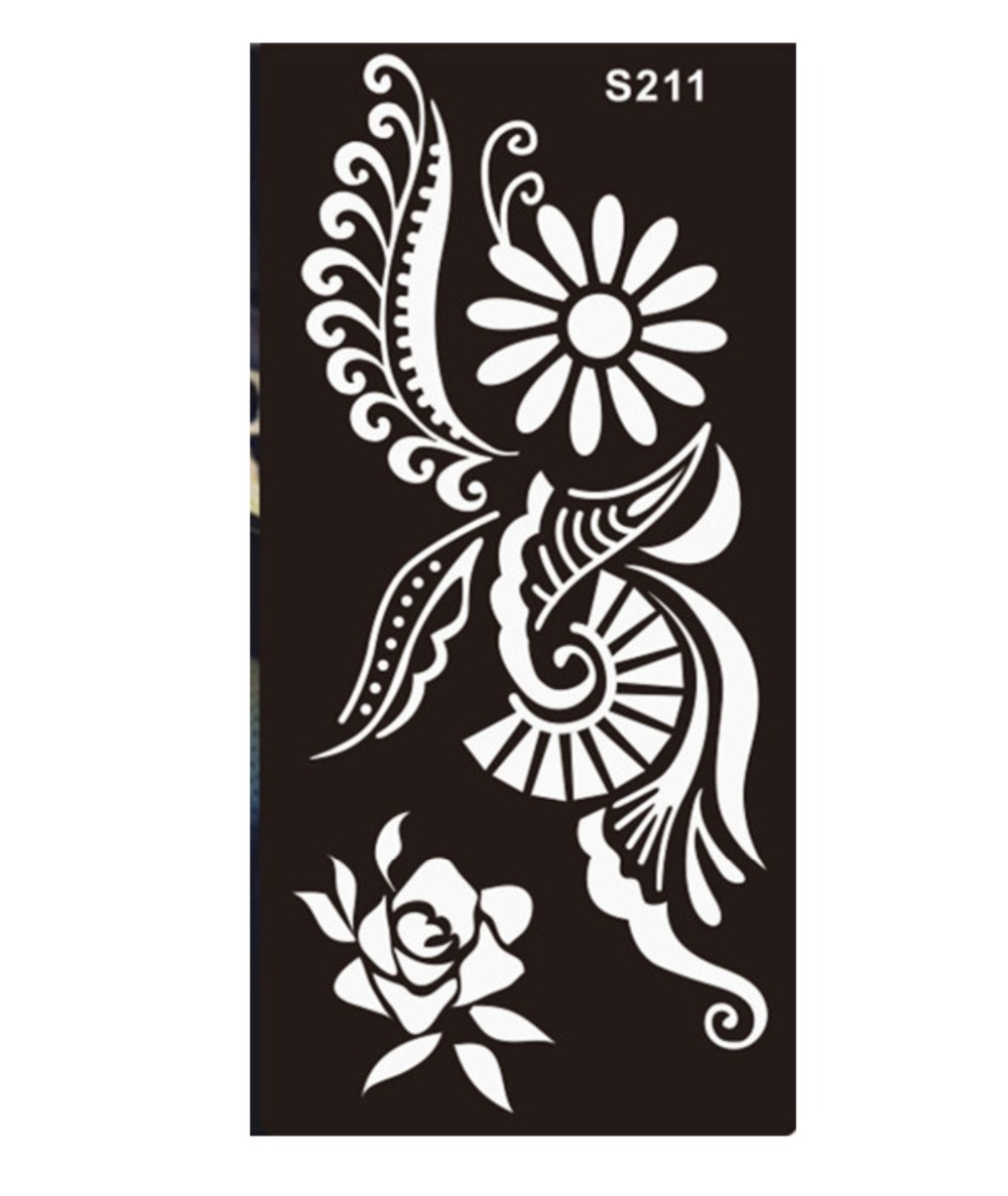 47 New Designs Henna Stickers Tattoo Body Art Mehndi Stencils ...