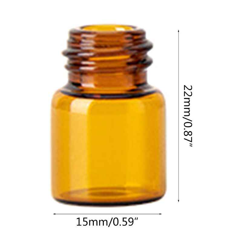 Mini Empty Glass Rolling Ball Bottle Essential Oil Perfume Liquid Container Refillable Travel Tool