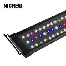 NICREW 53-83cm RGB Fishing Light Aquarium LED Lighting Lights Lampe Full Spectrum Fish Tank Lamp for