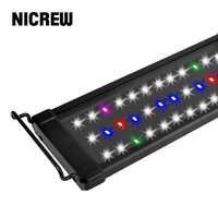 NICREW ClassicLED Plus RGB Fishing Light Aquarium LED Lighting Lights Lampe Full Spectrum Fish Tank Lamp for Aquarium 30-48cm