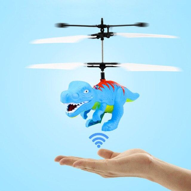 Helicóptero voando Dragão Brinquedos de Dinossauros Dinossauros Mão Controlado Helicóptero Brinquedos Para O Miúdo de indução helicóptero dropshiping & s
