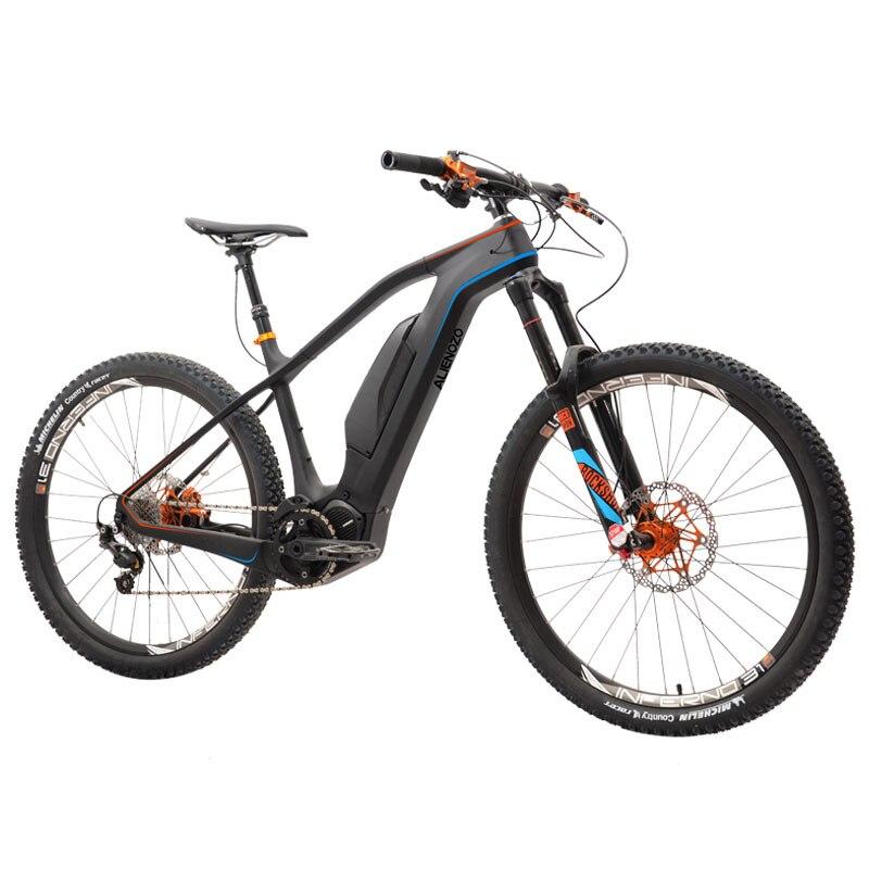 Koutom 27,5 дюймов углеродное волокно Электрический горный велосипед AM вездеход горный велосипед электрический углеродное волокно Электрическ...