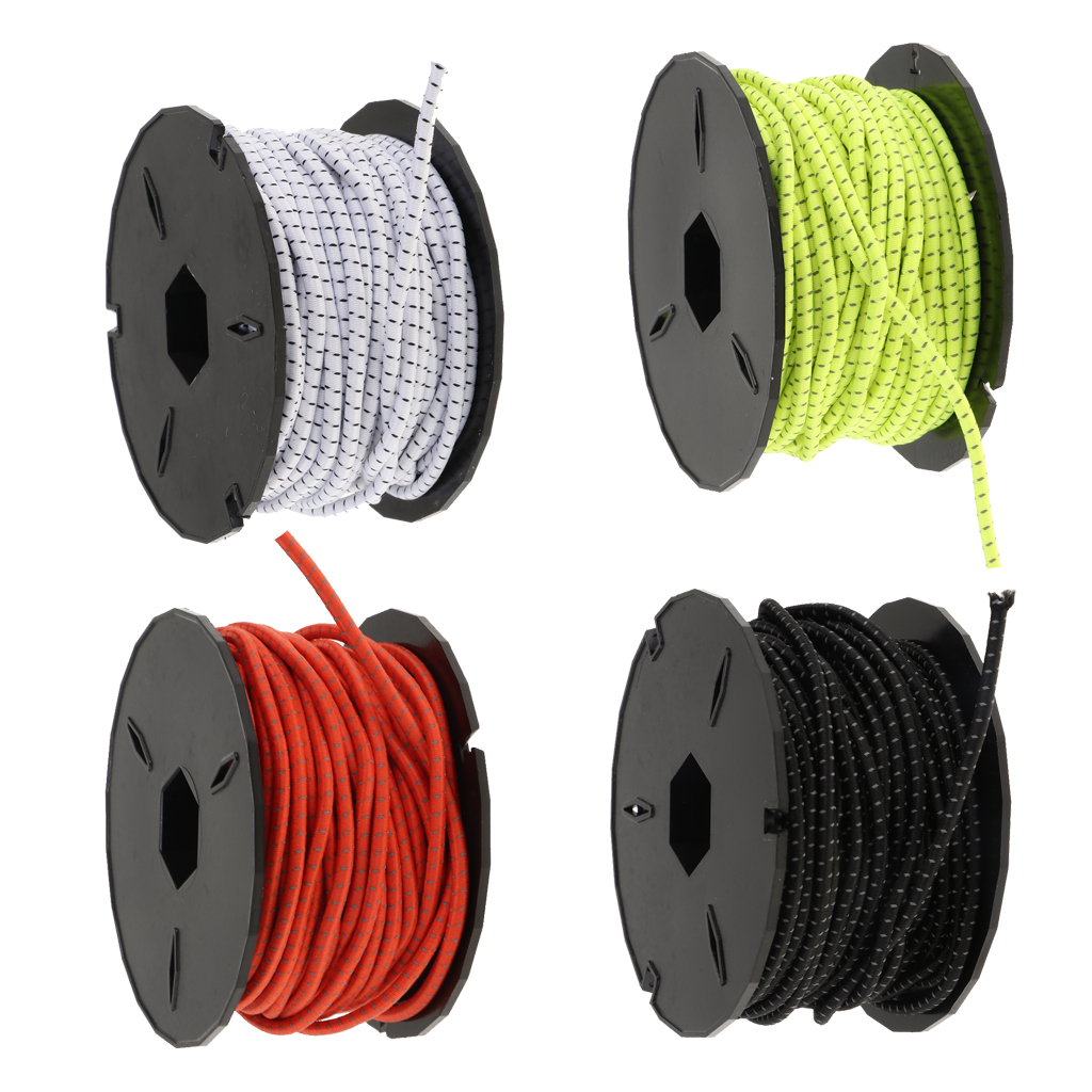 Elastic Shock Rope Bungee Cord For Bungee Straps Hammocks Gear Bundles Cargo Nets Crafting Projects Outdoor Survival Marine Boat