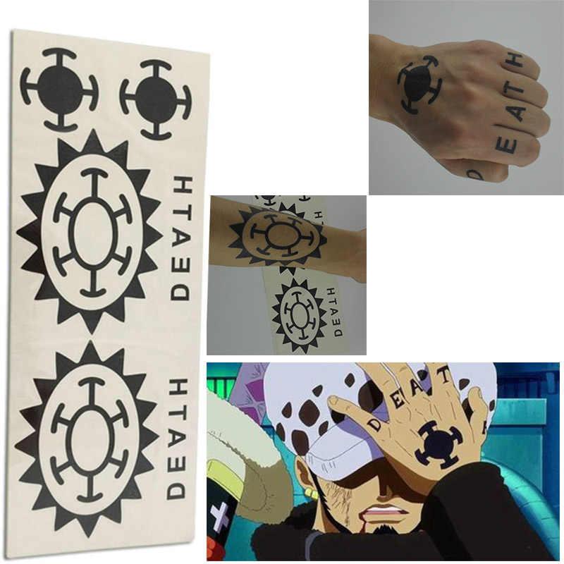 Аниме Хацунэ лука зомби шрам тату Косплей тату Трафальгар водное право нами наклейка Наруто Гаара Саске Сказочный хвост татуировки