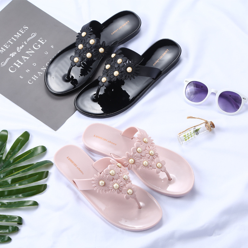 New Summer Women Bohemia Buckle Flat Shoes Beach Sandals Thong Slippers Flip Flops suihyung design new women and men summer flat shoes hit color breathable hollow beach slippers flips non slip unisex sandals