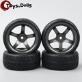 Hobby Go 4 Pcs/Set 1/10 On Road Racing Rubber Tyre Wheel Rim For HPI RC Model Car D5M & PP0150 Kids Toys Collections Gifts G