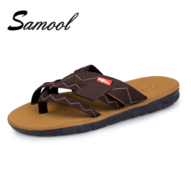Samool Summer Men Flax Flip Flop Canvas Linen Non-Slip Designer Flat Sandals Home Slipper Man Fashion Slides Casual Straw Shoe 5
