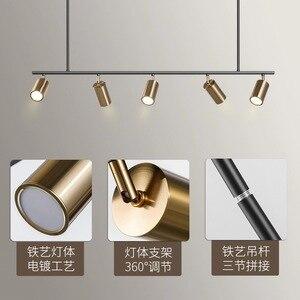 Image 3 - אירופה נורדי קטן נחושת פליז תליון אור מנורת LED זהב מודרני תליון מנורת אור שינה אוכל בר LED תליון אור