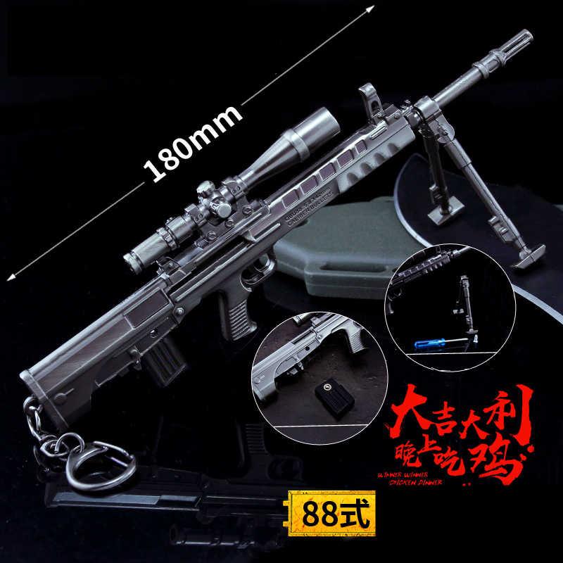 Campos de Batalha do jogo PUBG Novo Playerunknown Adereços Cosplay Lágrima bomba AK15 AA12 M27 6 Pçs/set Arma Armas de Brinquedo Keychain do anel Chave
