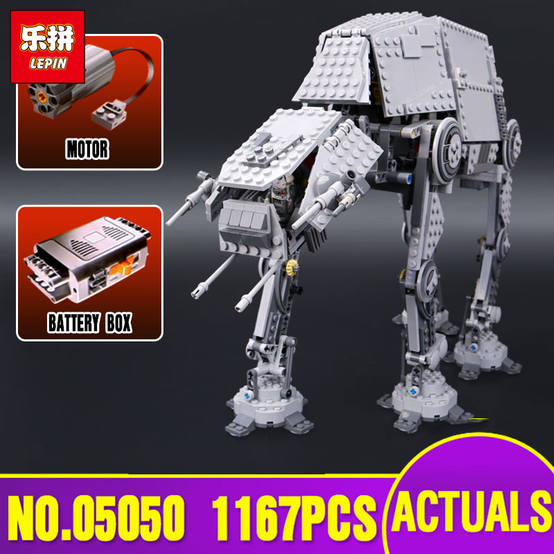 Lepin 05050 Star Series War AT the AT Robot Electric Remote Control Building Blocks Toys Compatible with legoing 10178 children new lepin 16009 1151pcs queen anne s revenge pirates of the caribbean building blocks set compatible legoed with 4195 children
