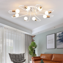 Vintage Ceiling Lamp For Living Room Bedroom Nordic Wrought Iron Retro Corridor Aisle Bar Light