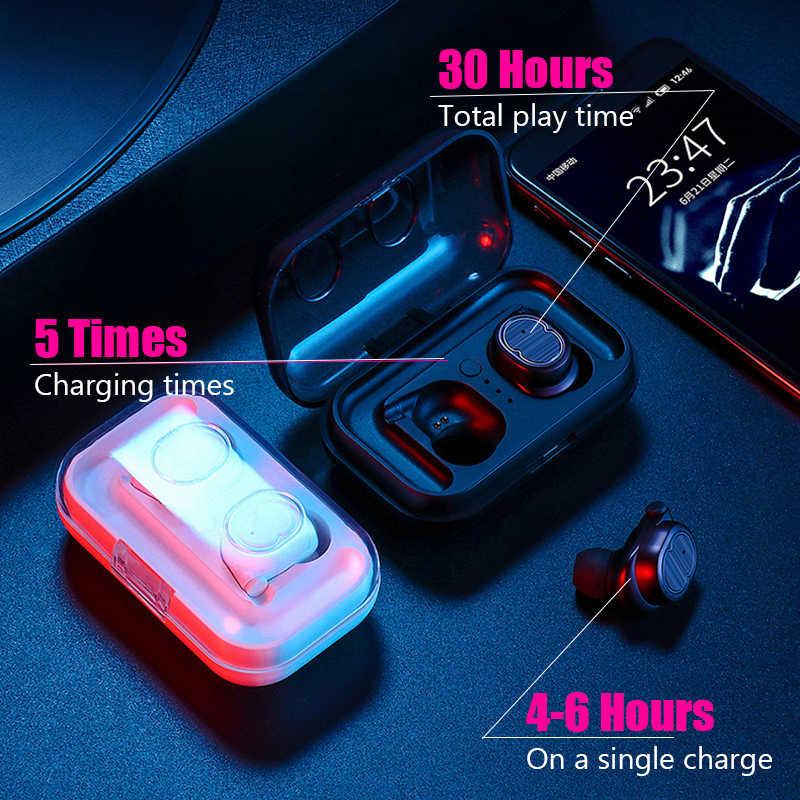 Oryginalny TWS-8 słuchawki bezprzewodowe TWS Bluetooth5.0 słuchawka hi-fi IPX7 wodoodporne słuchawki douszne zestaw słuchawkowy Touch Control dla sportu/gry