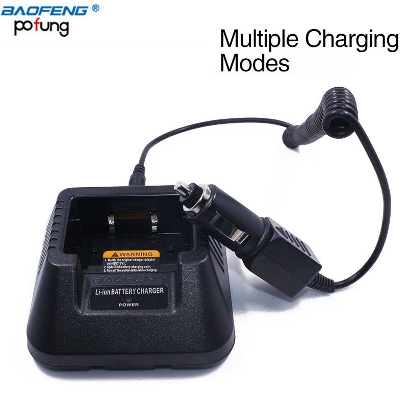 Baofeng Multiple Adapter Original Battery Charger 100V-240V USB/Car Charger for BAOFENG Walkie Talkie Two Way Radio UV-5R Series