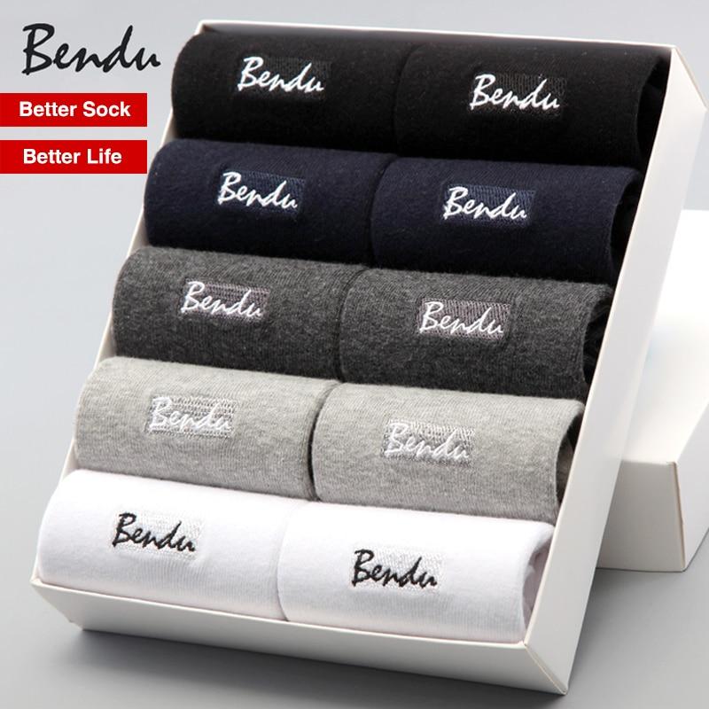 2018 גרבי כותנה גברים Bendu מותג מבטיחים גרב איש עסקים לנשימה דאודורנט אנטי בקטריאלי (10 זוגות  חבילה)