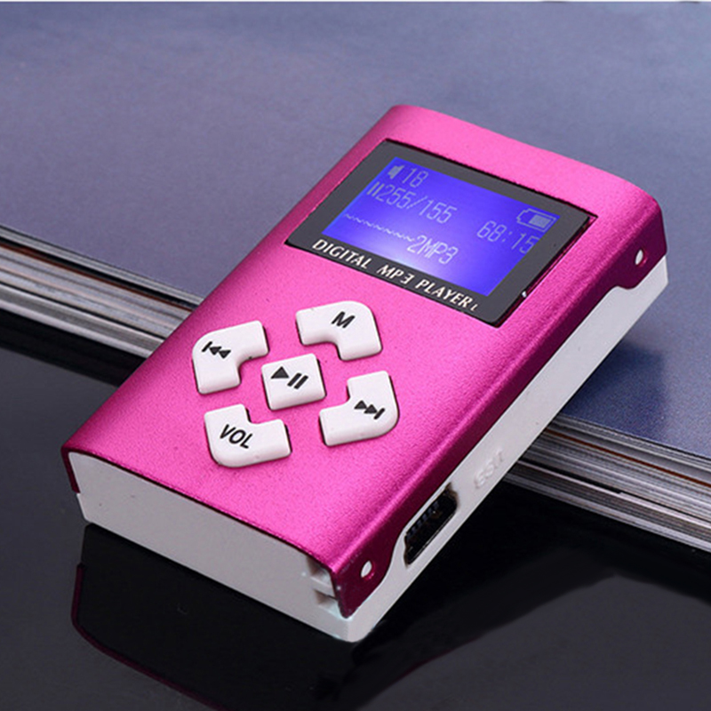 Portable MP3 Player Mini With LCD Screen Clip MP3 Music