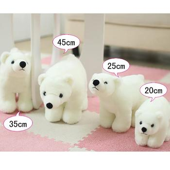 цена Lifelike Polar Bear Animal Doll Plush Soft Throw Pillow Girls Birthday Gift Toy for Girls Birthday Christmas Gift Cute Girl онлайн в 2017 году