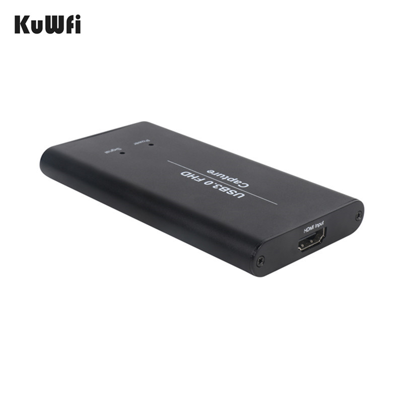 KuWFi USB3 0 HDMI Video Capture HDMI to USB Video Capture Card Dongle Game  Streaming Live Stream Broadcast 1080P OBS/Vmix