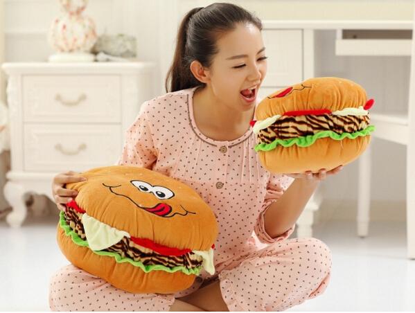Creativo 30 cm juguetes de peluche almohada hamburguesa súper hogar regalo creativo precioso swathes fantasía divertido muñeca