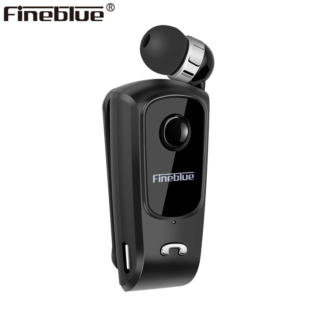 Fineblue F920 Mini Wireless Bluetooth neck clip telescopic type business Earphone Vibration Alert Wear Stereo Sport Auriculares