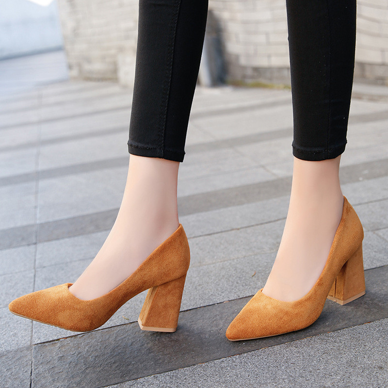 2306d6e3 ... Zapatos Sexy Mujeres Nude 558 Más Tamaño El Suede 8cm 558 Clásico Bombas  Mujer Nupcial Para ...