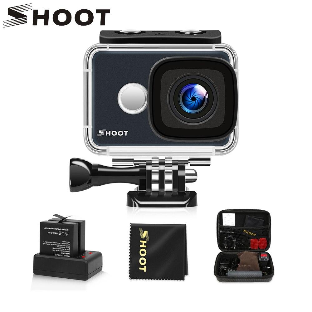 Caméra d'action étanche WiFi 4 K SHOOT T31 1080 P/60FPS caméra Ultra HD avec objectif grand Angle de 170 degrés pour Go Pro Hero 7 5 6 Yi h9
