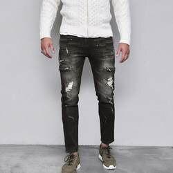 Модные мужские рваные приталенные мотоциклетные винтажные джинсы хип-хоп уличные брюки мужские джинсы брюки Parfum Homme De Marque 5