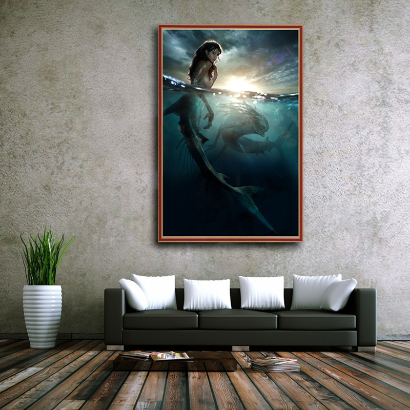 OUYIJIA Siren Mermaid Beauty 5D DIY Diamond Painting Full Square Picture Of Rhinestone  Cross Stitch Embroidery Diamond Mosaic-in Diamond Painting Cross ... 9811f2a2a266