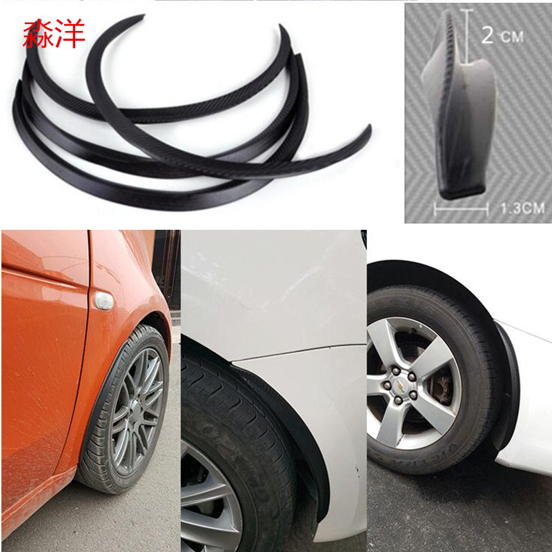 Universal Car Wheel Fender Flare Extension Wide Arch Protector Stripe 72cm 46/'/'