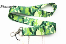 Hensongift Camo Key Lanyard  Army Green Mobile Neck Straps Camouflage ID Badge Holders