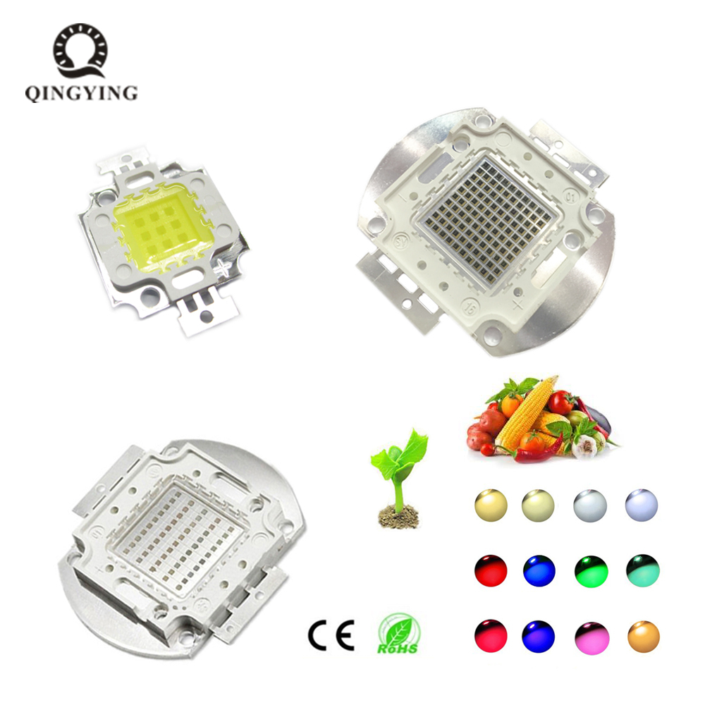 10W 20W 30W 50W 100W LED Light Chip White Red Green Blue Yellow SMD COB Integrated LED Lamp Chip For Floodlight Spotlight Bulb